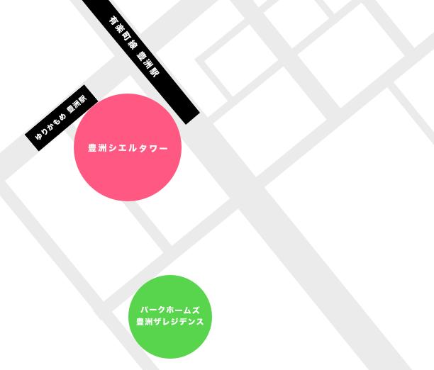 豊洲5丁目のタワーマンション一覧マップ