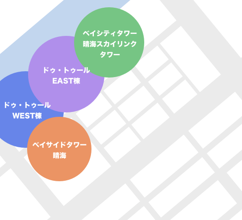 晴海3丁目にあるタワーマンション一覧マップ