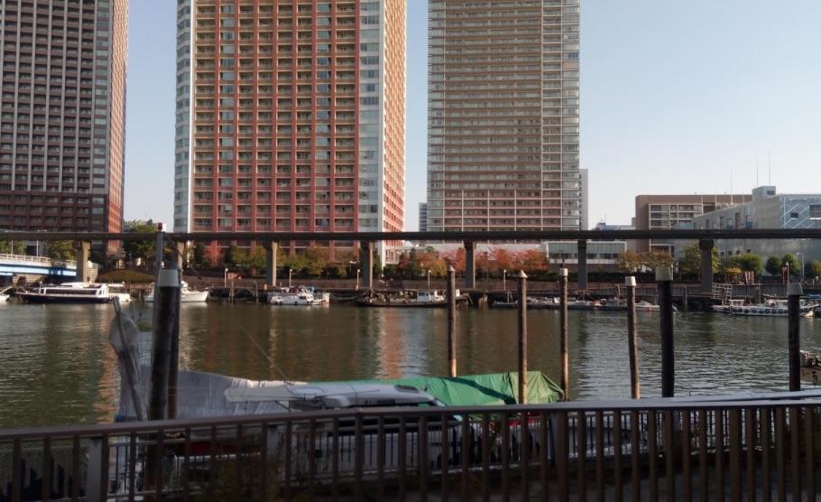 クラッシィハウス芝浦横の運河