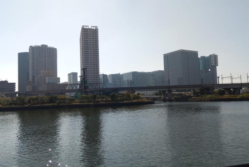 芝浦アイランドケーブタワーから品川方面の景色