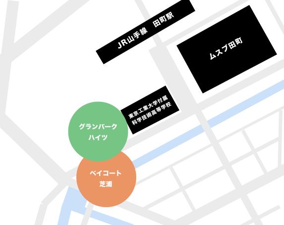 芝浦3丁目のタワーマンション一覧マップ