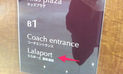 地下に続くエレベーターの案内